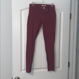 Refuge red straight leg pants, red, size 2